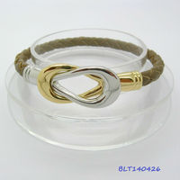 Hot 2013 2 tone Tennis Rackets infinity Leather wish magnet bracelet