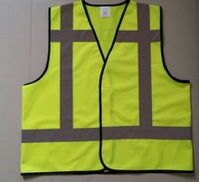 Logo Printed Cheap high visible Reflective Security Vest for sale