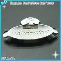 2013 Best selling soft enamel silver car emblem logo badges for wholesale
