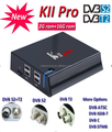 4K hd satellite receiver KII pro combo DVBT2+DVBS2 android tv box Amlgoic S905 Quad core 2GB+16GB kodi 16.1 WIFI2.4G+5G 1000M