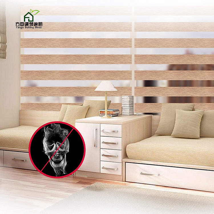 Ready made All Colors Blackout outdoor roller shade, zebra blind with high quality