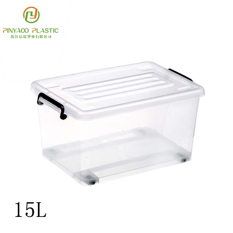 5L-130L Hot sale top quality transparent plastic storage box with lid