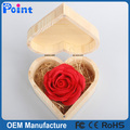 colorful flower shape soap gift wooden box hand carved soap flower for Valentine's Day