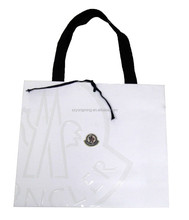 2015 Customized White Paper bag Fashion Luxury Solid Hotel handle bag gift & shopping bags