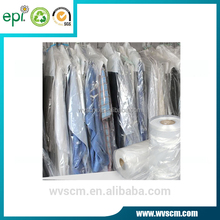 Poly Clear Plastic Hanger Covers Dry Cleaning Bags On Roll for Shirt