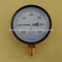 black steel case bottom connection vacuum compound pressure gauge