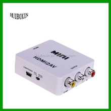 Mini HDMI to 3RCA Composite AV Converter for TV/PC/PS3/Blue-ray DVD, White