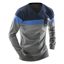 China supplier wholesale checkout slim Men's pullover sweater men knitwear fine gauge sweater pure color sweater for male