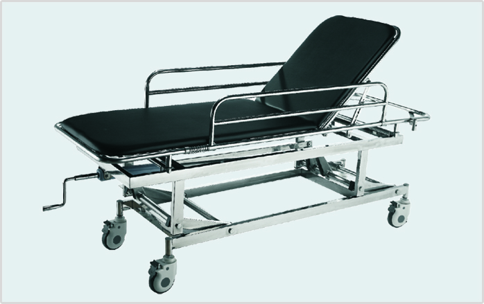 Cheap price stainless steel patient transport stretcher/hospital transport cart E-5
