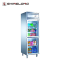 R249 2 Glass Doors Static Cooling/Fancooling Reach-In Comercial Refrigerator