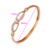 50628 xuping jewelry wholesale rose gold color rhinestone & strass brillant style bangle for women