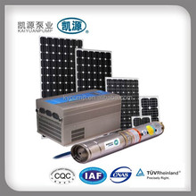 High pressure solar energy water pumping machine with solar panel