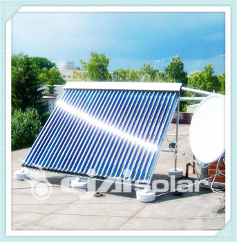 split low pressure solar water heating system project solar collector