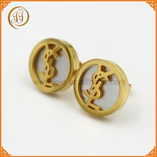 Bulk Cheap Jewelry Ear Studs Unique Gold Plating Custom Letter Earrings