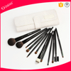Eco-friendly goat hair professional cosmetic brush of 12pcs