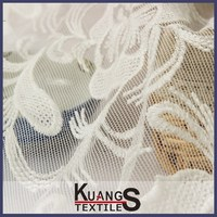 hand net lace embroidery fabric