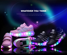 led children kids roller skate wheel shoes , china wheel roller shoes manufacturer light up 1 2 skate roller shoes with wheel
