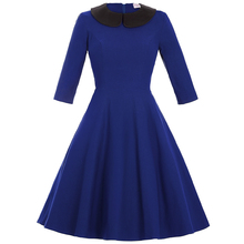 Belle Poque Stock Half Sleeve Doll Collar Summer Dress Autumn Spring Vintage Swing Party Dress BP000140-1