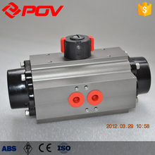 single acting actuator for plug valve with reversing solenoid valve
