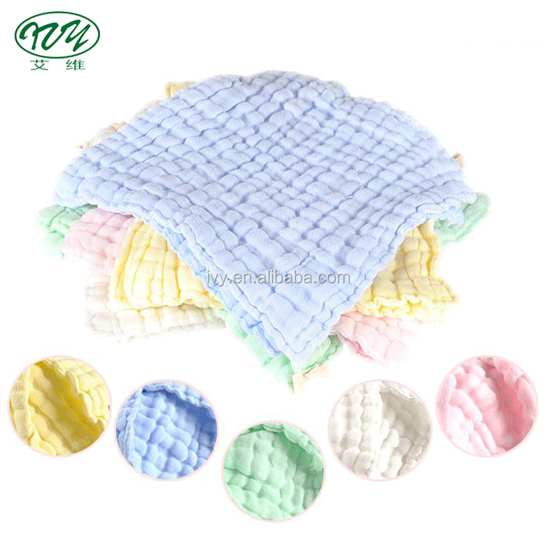 100% cotton fabric softeness face muslin cleaning cloth for babies