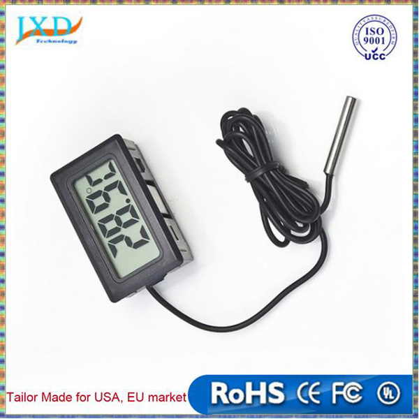 Digital LCD Probe Fridge Freezer Thermometer Thermograph for Aquarium Refrigerator