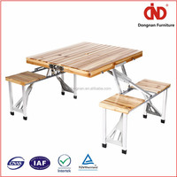 factory wholesales cheap wood durable folding table with chairs