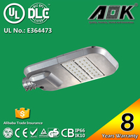 8 years warranty IP66 UL DLC 100w LED Street Light price , 40W - 300W Outdoor Led Street Light