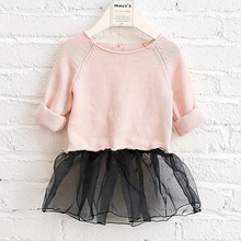 Fashion designs baby girls fancy imported kids children lace dress