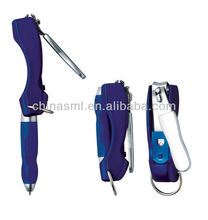 multifunction jump ring hanging pen nail clipper pen
