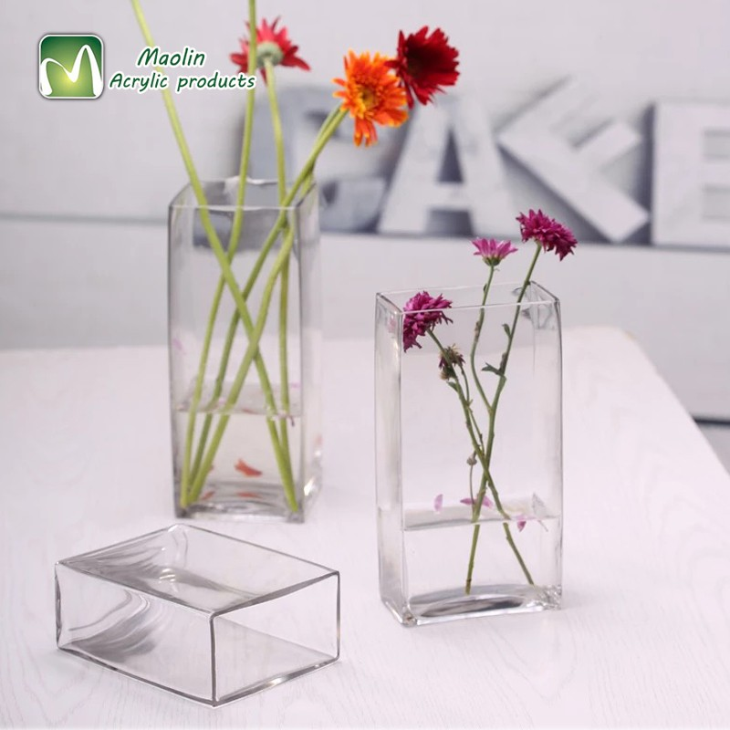Handmade Home Decoration Custom Cheap Acrylic Flower Vase Glass
