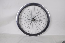 Dengfu alloy brake surface carbon clincher road bike rims Chinese carbon wheelset