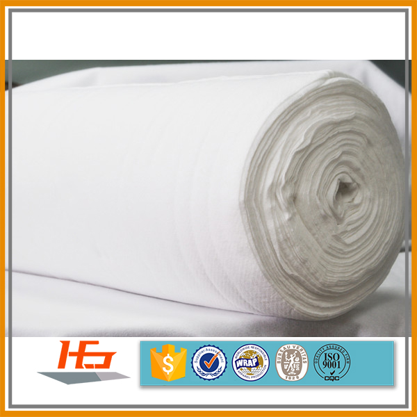 Pure White Double Brushed 100% Polyester Microfiber Fabric