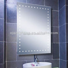 China Mirror Factory Decorative Bathroom Usage LED Wall Mirror With Standard Size