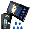 "PHOTO & VEDIO memory Single house/ apartment / villa 7""tft-lcd 4-wire door phone system color video door phone with fingerprint"