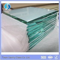factory price high quality 10mm thick clear tempered glass