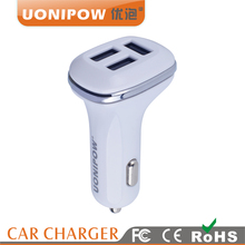 UP-512C 4.8a Electric Car Charger Usb Adapter,Mobile Phone Fast Charging 3 Usb Car Charger