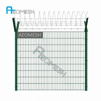 Made in Guangzhou Professional Factory Barbed wire V top Double Wire Fence