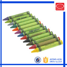 Chunk shape fat style children using non-toxic wax crayon