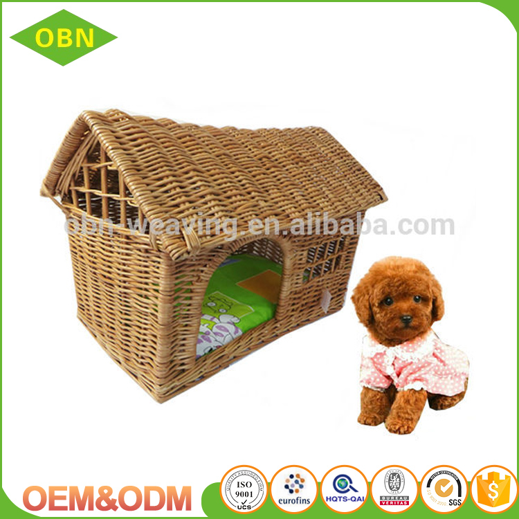 Wholesale new desigh handmade wicker dog house outdoor pet house