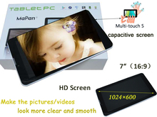 Advanced design 7 inch ultra-thin high resolution android tablet pc smart phone