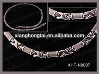 2013 cheap wholesale necklace clasp stainless steel leather health and fashion jewelry