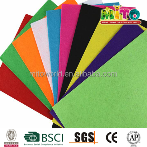 DIY art personalized wholesale felt sheet with self adhesive