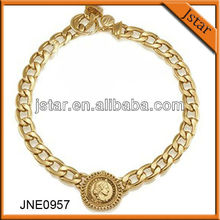 2013 best selling gold statement necklace jewelry