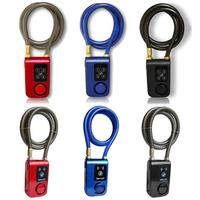 wholesale anti theft 110db electric scooter keyless smart bicycle cable electronic alarm lock e bike accessories