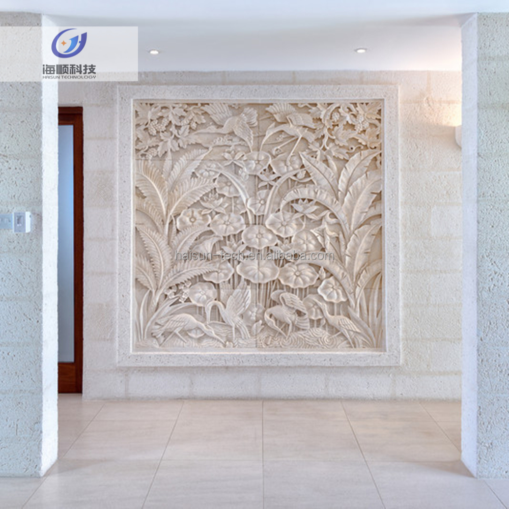 Entry Luxury Series building interior decorations sculpture Eco 3d stone board