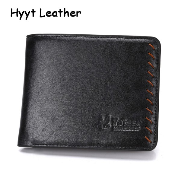 2016 new Yateer Brand Thin Leather Men Wallets Black & Brown Short Wallet Men Slim Wallet Purses With Card Holder