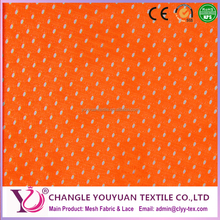 Neon Orange Football Mesh Sport Fabric 2 Way Stretch Polyester 58-60""