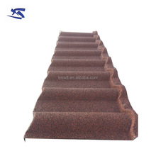 Corrugated galvanized color stone chip metal roof tile