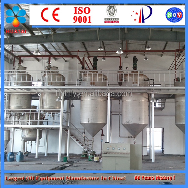 Cotton Bleaching Machinery Crude Cotton Oil Refinery Plant