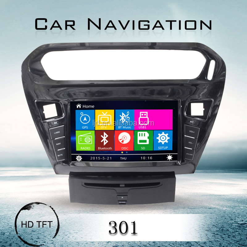 car dvd player with navigation gps for peugeot 301